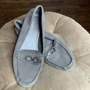 COACH Fortunata Sz 7.5 B Loafers Gray